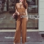 Lady Ribbon Korea Closet LR16270616 &#x1F380 Lady Ribbon's Made &#x1F380 Lady Lyla Modern Minimal Chic Lacy Camel Jumpsuit thumbnail 2