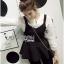 &#x1F380 Lady Ribbon's Made &#x1F380 Lady Rachel Casual Minimal Chic Black and White Blouse set thumbnail 5