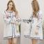 Lady Ribbon Korea Dressเสื้อผ้า LR08010816 &#x1F380 Lady Ribbon's Made &#x1F380 Lady Alexandria Country Feminine Flower Embroidered Button-Down Cotton Dress thumbnail 2