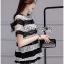 Lady Ribbon Dress Korea LR13190516 &#x1F380 Lady Ribbon's Made &#x1F380 Lady Georgina Striped Lace Top with Dress Korea Pleated Frills เสื้อผ้าลูกไม้ลาย thumbnail 4