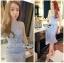 Lady Ribbon Korea Dressเสื้อผ้า LR09010816 &#x1F380 Lady Ribbon's Made &#x1F380 Lady Nara Feminine Elegant Crystal Embroidered Lace Dress เดรสผ้าลูกไม้ตกแต่ง thumbnail 2