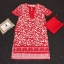 Lady Ribbon Korea Closet LV02090616 &#x1F36D Korea Design By Lavida ethnic leaf printed rope neck loose feminine dress thumbnail 6