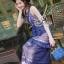 Lady Ribbon Korea Brand SV14060616 &#x1F389Sevy SP V-Neck Elegant Sleeveless Vintage Lace Dress thumbnail 4