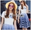 Lady Ribbon Dress LR06300516 &#x1F380 Lady Ribbon's Made &#x1F380 Lady Nadia Pretty Casual Blue Butterflies Embroidered Dress เดรส thumbnail 1