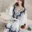 Lady Ribbon Kiorea Mini Dress LR02060616 &#x1F380 Lady Ribbon's Made &#x1F380 Lady Paulie Floral Embroidered Cotton Kaftan Playsuit thumbnail 2