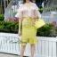 Lady Ribbon Korea Closet SB 09300516 Sweet Bunny Present... Petite Airtex Mini Dress thumbnail 2