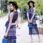 Lady Ribbon Korea Brand SV14060616 &#x1F389Sevy SP V-Neck Elegant Sleeveless Vintage Lace Dress thumbnail 1