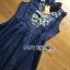 Lady Ribbon's Made &#x1F380 Lady Katie Embroidered Frilled Sleeveless Denim Korea Mini Dres thumbnail 8