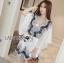 Lady Ribbon Kiorea Mini Dress LR02060616 &#x1F380 Lady Ribbon's Made &#x1F380 Lady Paulie Floral Embroidered Cotton Kaftan Playsuit thumbnail 1