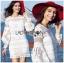 Lady Ribbon's Made &#x1F380 Lady Korea Marion Classy Chic Mixed White Lace Dress Korea thumbnail 1