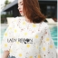 Lady Ribbon KOrea Dress &#x1F380 Lady Ribbon's Made &#x1F380 Lady Jessica Little Daisy Sunshine White and Yellow Floral Cropped Top thumbnail 2