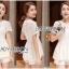Lady Ribbon Korea LR01300516 &#x1F380 Lady Ribbon's Made &#x1F380 Lady Laurel Classic Sweet Lace Peplum Top and Short Ensemble Set thumbnail 1