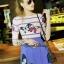 Lady Ribbon Korea Closet SW12060616 Sweet Bunny Present... Butterfly Stripe Print Dress thumbnail 2