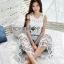 Lady Ribbon Korea Denim Dress LR22130616 &#x1F380 Lady Ribbon's Made &#x1F380 Lady Chloe White Flower Lace Top and Denim Culottes Set thumbnail 2