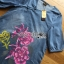 Lady Ribbon Korea Denim Dress LR14200616 &#x1F380 Lady Ribbon's Made &#x1F380 Lady Elizabeth Modern Chinese Roses Printed Denim Dress เดรสผ้าเดนิม thumbnail 4