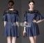 Lady Ribbon Korea Dress LR06160616 &#x1F380 Lady Ribbon's Made &#x1F380 Lady Stella Smart Casual Black Lace and Denim Dress thumbnail 1