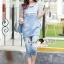 Lady Ribbon Closet Design Seoul Secret Say's... Nifty Softly Blue Denim Set thumbnail 2
