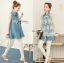 Lady Ribbon's Made &#x1F380 Lady Mariam Mix Lace and Cotton Denim Shirt Dress Korea thumbnail 2