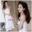 Lady Ribbon Dress LR08300516 &#x1F380 Lady Ribbon's Made &#x1F380 Lady Lauren Sweet Feminine Lace Maxi Slip Dress in White เดรสยาว thumbnail 1