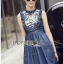 Lady Ribbon's Made &#x1F380 Lady Katie Embroidered Frilled Sleeveless Denim Korea Mini Dres thumbnail 7