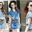 เสื้อผ้าเกาหลี LR11110716 &#x1F380 Lady Ribbon's Made &#x1F380 Lady Cindy Little Western Cowboy Denim Shirt and Shorts Set with Belt thumbnail 1