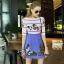Lady Ribbon Korea Closet SW12060616 Sweet Bunny Present... Butterfly Stripe Print Dress thumbnail 3