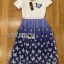 Lady Ribbon Dress LR06300516 &#x1F380 Lady Ribbon's Made &#x1F380 Lady Nadia Pretty Casual Blue Butterflies Embroidered Dress เดรส thumbnail 6