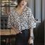 Lady Ribbon Cotton Korea Dress Blouse thumbnail 5