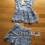 Lady Ribbon Korea Dress ผ้าลูกไม้ LR10200616 &#x1F380 Lady Ribbon's Made &#x1F380 Lady Sophie Sweet Casual Baby Blue Lace Top and Shirts Set thumbnail 4