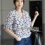 Lady Ribbon Cotton Korea Dress Blouse thumbnail 2