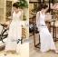 Lady Ribbon's Made &#x1F380 Lady Ribbon's Made Lady Ribbon White Floral Embellish Lace Maxi thumbnail 3