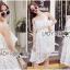 Lady Ribbon Korea Dress &#x1F380 Lady Ribbon's Made &#x1F380 Lady Lauretta Pure Summer Off-Shoulder White Lace Dress thumbnail 4