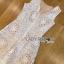 Lady Ribbon เสื้อผ้าเกาหลี LR06110716 &#x1F380 Lady Ribbon's Made &#x1F380 Lady Katy Smart Casual White Guipure Lace Jumpsuit thumbnail 5