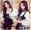 &#x1F380 Lady Ribbon's Made &#x1F380 Lady Rachel Casual Minimal Chic Black and White Blouse set thumbnail 3