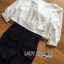 Lady Ribbon Korea Closet Jumpsuit LR15300616 &#x1F380 Lady Ribbon's Made &#x1F380 Lady Natasha Sweet Smart Ribbon and Striped Jumpsuit จัมป์สูท thumbnail 4