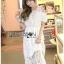 Lady Ribbon Korea Dress Lady Ribbon Korea LR23190516 &#x1F380 Lady Ribbon's Made &#x1F380 Lady Amanda Pretty Sweet Off-Shoulder Lace Dress เดรสผ้าลูกไม้ thumbnail 2