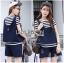 Lady Ribbon เสื้อผ้าเกาหลี LR10140716 &#x1F380 Lady Ribbon's Made &#x1F380 Lady Charlotte Striped Top with Ripped Tank Korea Top and Shorts Set เซ็ตเสื้อลาย thumbnail 1