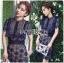 Lady Ribbon Korea Dress LR12200616 &#x1F380 Lady Ribbon's Made &#x1F380 Self-Portrait Louisa Guipure Lace Dress เดรสผ้าลูกไม้สีกรมท่า thumbnail 1