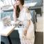 Lady Ribbon Korea Dress Lady Ribbon Korea LR23190516 &#x1F380 Lady Ribbon's Made &#x1F380 Lady Amanda Pretty Sweet Off-Shoulder Lace Dress เดรสผ้าลูกไม้ thumbnail 3