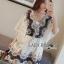 Lady Ribbon Kiorea Mini Dress LR02060616 &#x1F380 Lady Ribbon's Made &#x1F380 Lady Paulie Floral Embroidered Cotton Kaftan Playsuit thumbnail 3