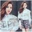 Lady Ribbon Korea Lace Cotton Dress Shirt เดรสเชิ้ตผ้าคอตตอน thumbnail 1
