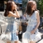 Lady Ribbon Korea เสื้อผ้าเกาหลี ของแท้พร้อมส่ง Lady Ribbon Dress LR10250716 &#x1F380 Lady Ribbon's Made &#x1F380 Lady Ariana Sweet Feminine White and Blue Lace Dress เดรสผ้าลูกไม้สีฟ้า thumbnail 2