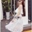 Lady Ribbon Korea Dress &#x1F380 Lady Ribbon's Made &#x1F380 Lady Lauretta Pure Summer Off-Shoulder White Lace Dress thumbnail 3