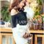 Lady Ribbon Korea Dress Korea Shop LR03390616 &#x1F380 Lady Ribbon's Made &#x1F380 Lady Stella Minimal Monochrome Off-Shoulder Cotton Long Shop thumbnail 2