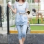 Lady Ribbon Closet Design Seoul Secret Say's... Nifty Softly Blue Denim Set thumbnail 3
