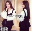 &#x1F380 Lady Ribbon's Made &#x1F380 Lady Rachel Casual Minimal Chic Black and White Blouse set thumbnail 4