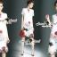 Closet Seoul Secret Say's... Redly Rim Rosy Print Organdy Dress thumbnail 1