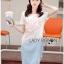 Lady Ribbon Korea Denim Dress Korea LR18300616 &#x1F380 Lady Ribbon's Made &#x1F380 Lady Tamara Street Chic Sequin Embroidered Jersey and Denim Dress thumbnail 2