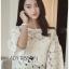 Lady Ribbon Dress Lady Ribbon Korea LR20190516 &#x1F380 Lady Ribbon's Made &#x1F380 Lady Stephanie Little Sunshine White and Yellow Floral Cropped Top ลูกไม้ thumbnail 6