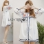 Lady Ribbon Korea Dressเสื้อผ้า LR08010816 &#x1F380 Lady Ribbon's Made &#x1F380 Lady Alexandria Country Feminine Flower Embroidered Button-Down Cotton Dress thumbnail 1